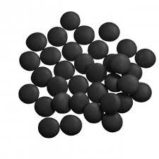 Mini Confetti Zwart Gelakt / Lentilles