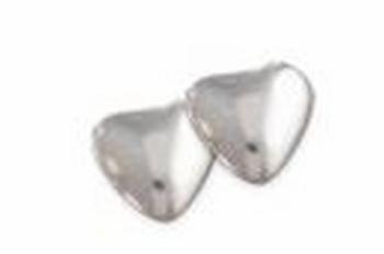 Dwerghartjes Zilver Metal / Coeurs Nains
